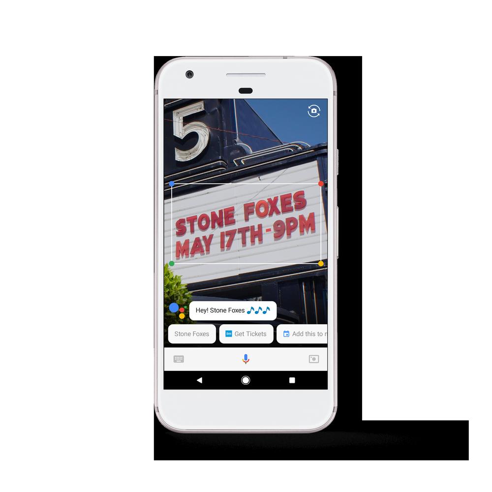 ตัวอย่างคำสั่ง Google Assistant บน Google Lens