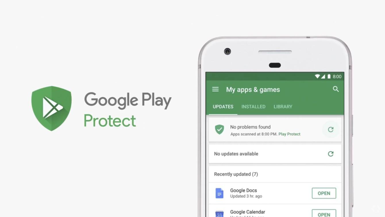 "Play Store แสดง ""No problem found"" สำหรับฟีเจอร์ใหม่ Google Play Protect"