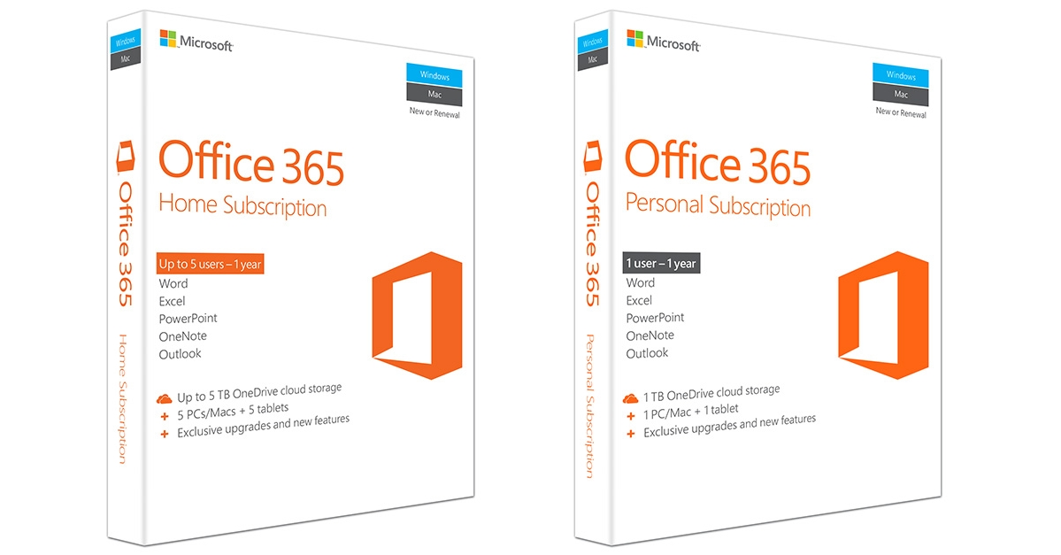 New Microsoft Office 365 Personal 1 Year subscription key 1 PC//Mac Download