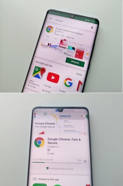มือถือ Huawei อัพเดตแอป google