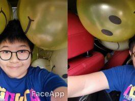FaceApp aging filter