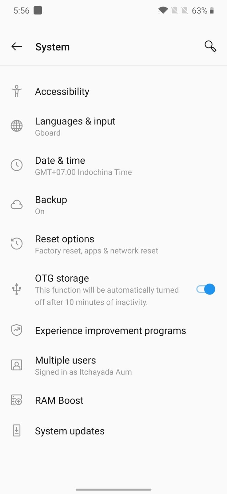 OnePlus 7T Pro USB OTG