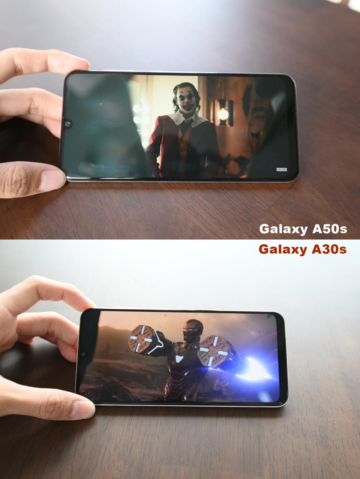 หน้าจอ galaxy A50s vs A30s