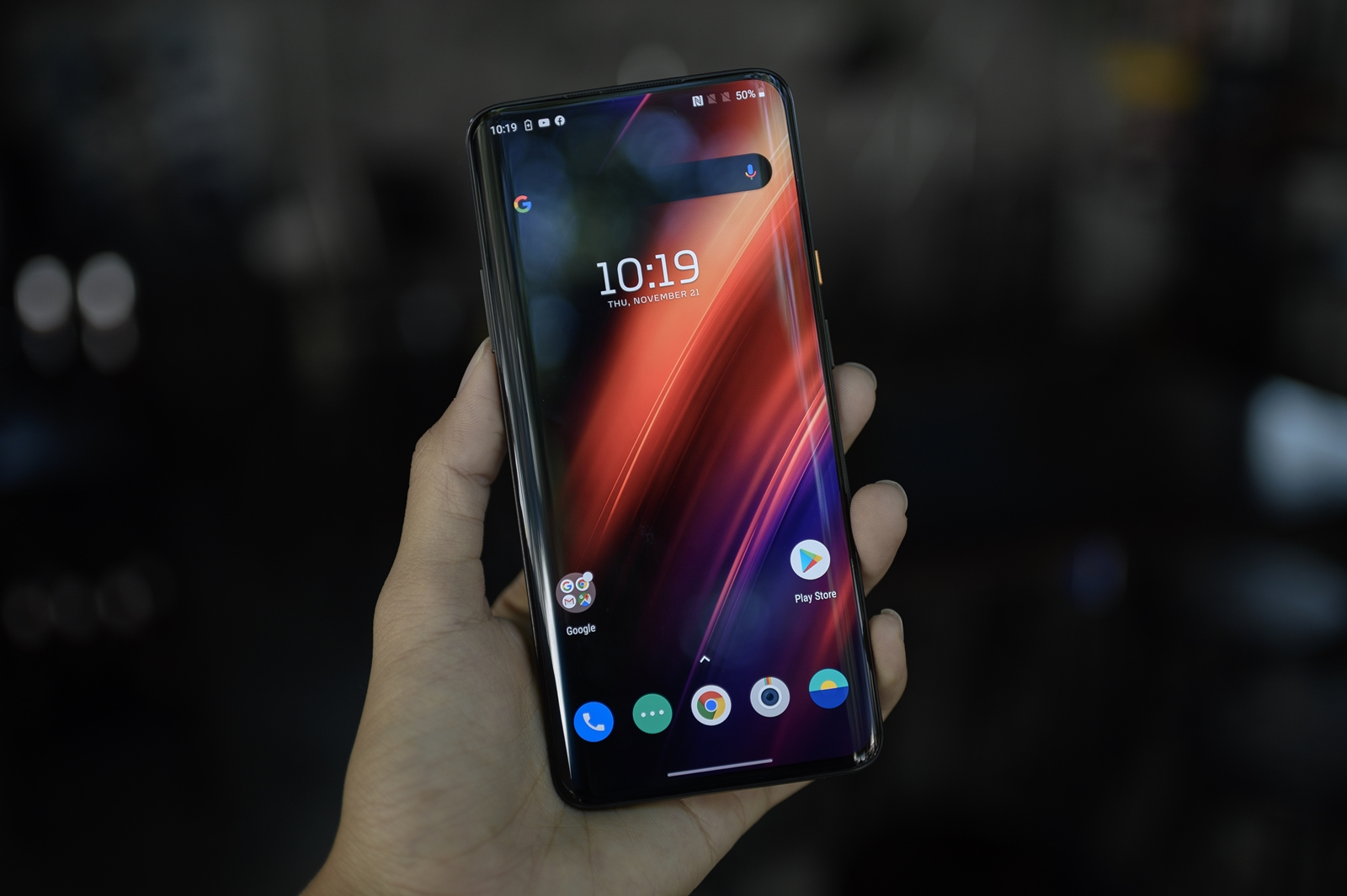 OnePlus 7T Pro McLaren Limited Edition Display