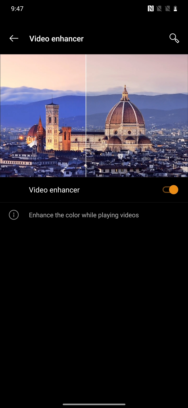 OnePlus 7T Pro McLaren Video Enhancer