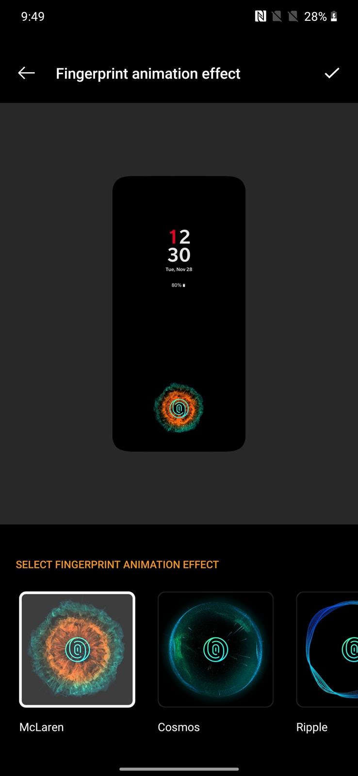 OnePlus 7T Pro McLaren fingerprint McLaren