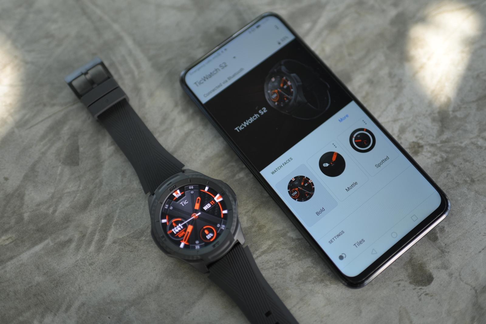 TicWatch S2 + smartphone