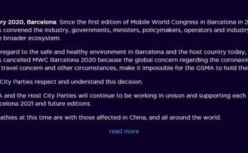 ยกเลิกงาน Mobile World Congress ยกเลิกงาน Mobile World Congress