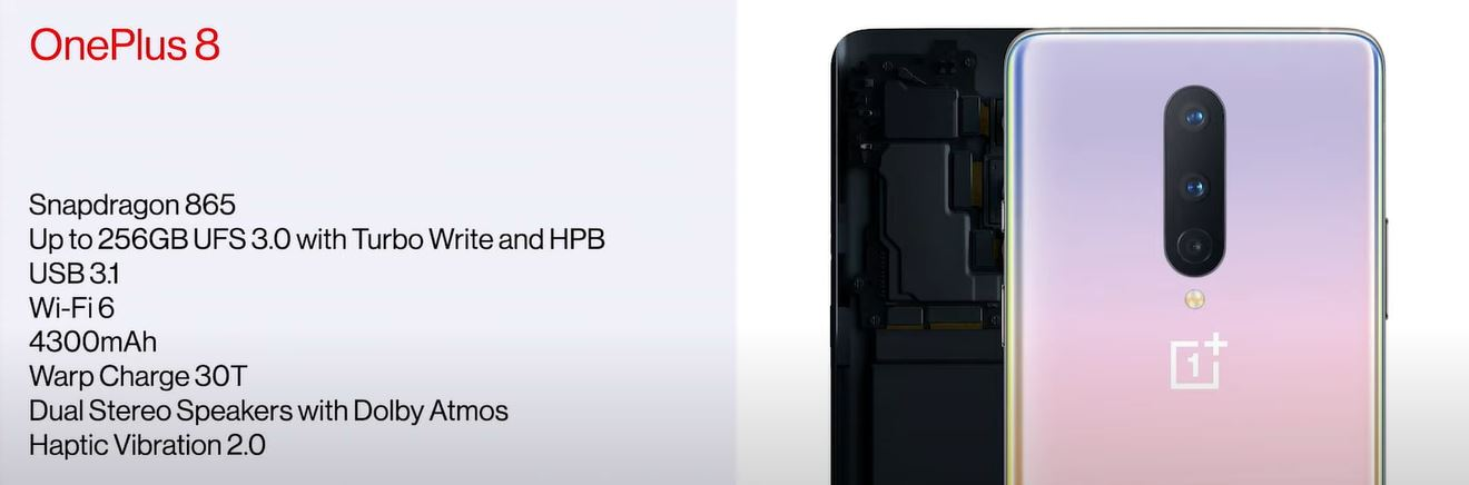 OnePlus 8 spec