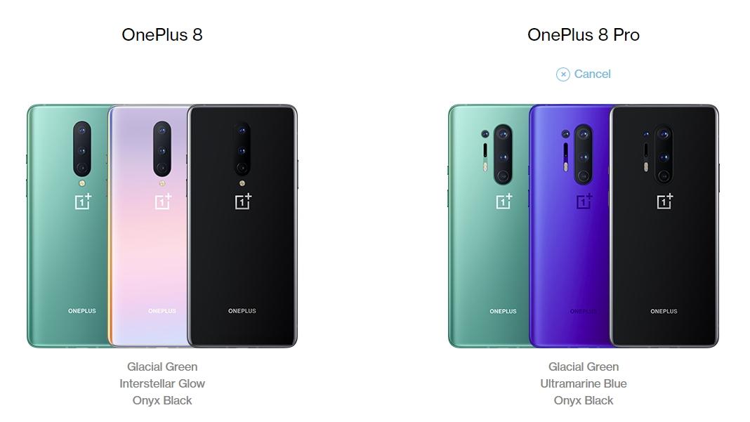 OnePlus 8 vs OnePlus 8 Pro