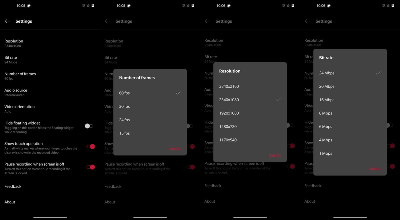 OnePlus 8 Pro Screen Record