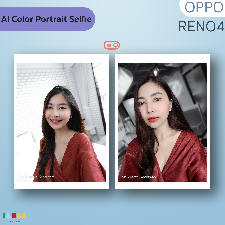 AI Color Portrait Selfie OPPO Reno4