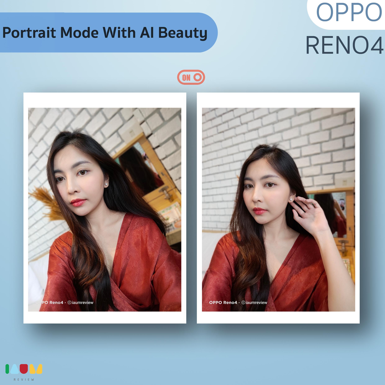 portrait mode with ai beauty OPPO Reno4