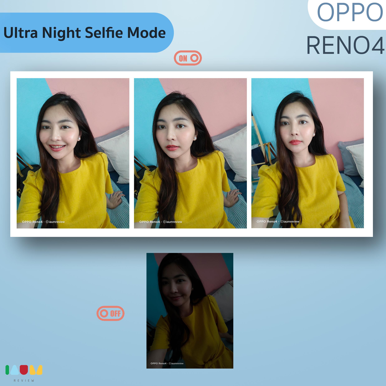 ultra night selfie mode OPPO Reno4