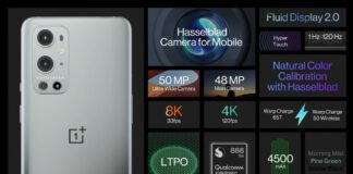 OnePlus 9 pro spec