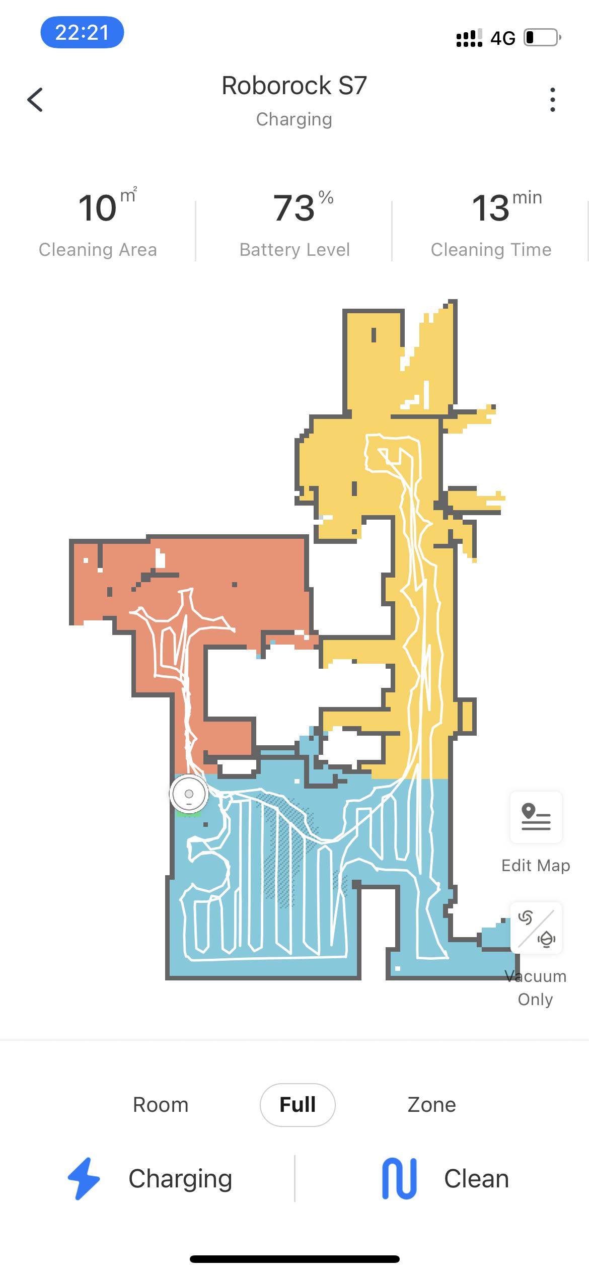 Roborock App Map area